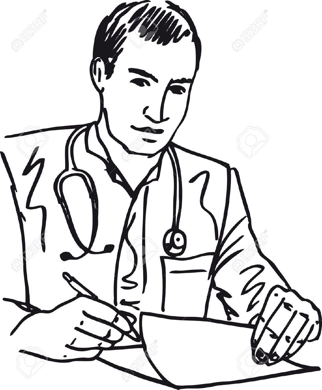 Line Drawing Of A Doctor : Doctor clip art pictures clipart panda free images