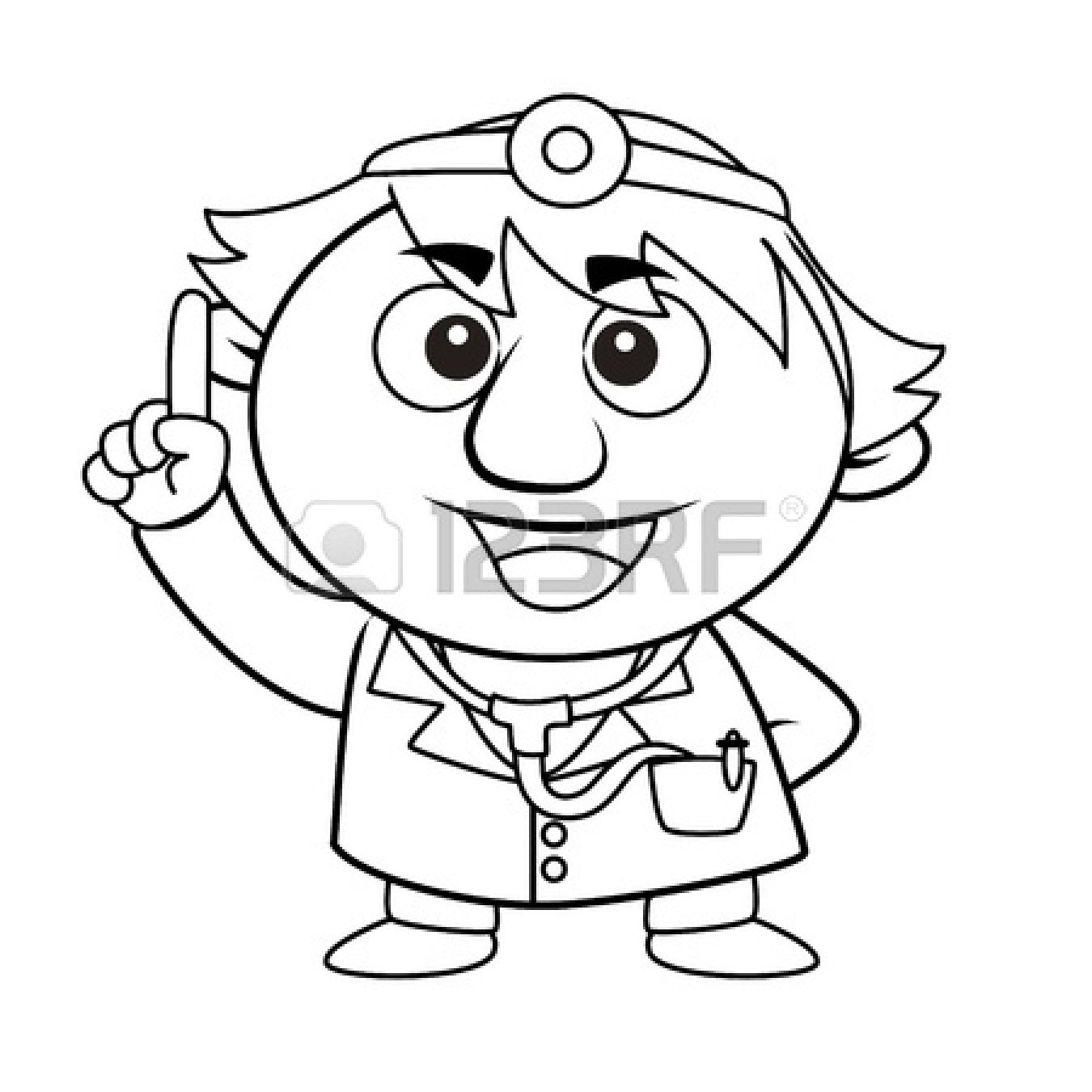 Coloring pages for doctors - Doctor 20tools 20clipart 20black 20and 20white
