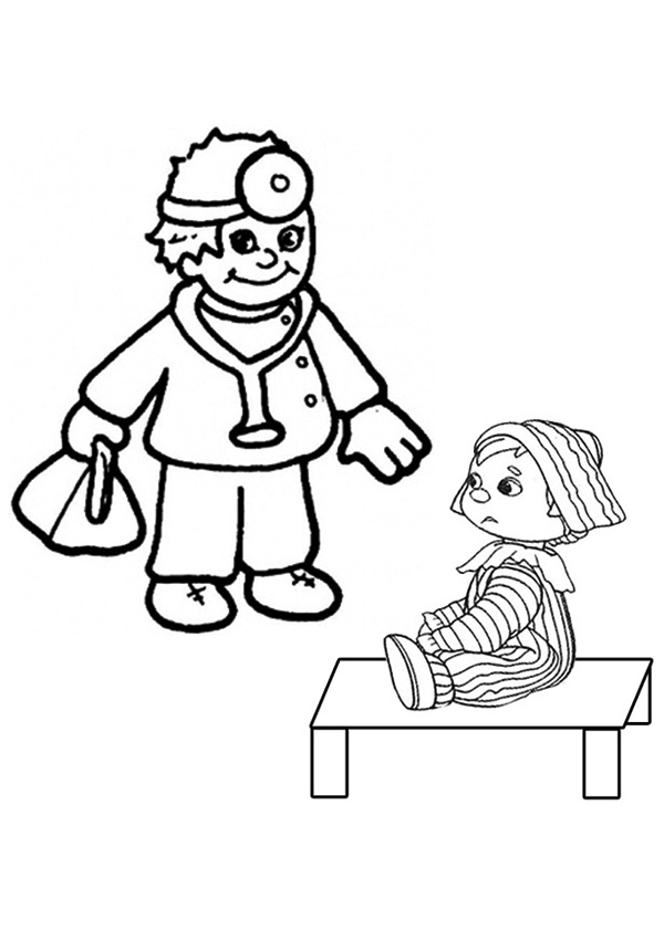 kids coloring pages doctors tools - photo#24