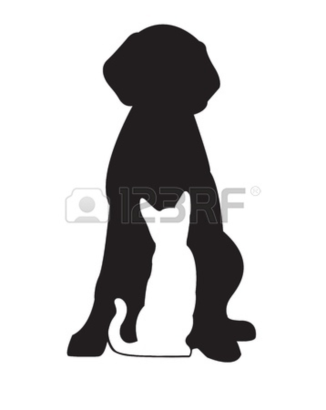 dog-and-cat-clip-art-black-and-white-13747228-silhouette-of-black-dog ...