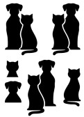 dog%20and%20cat%20clip%20art%20black%20and%20white