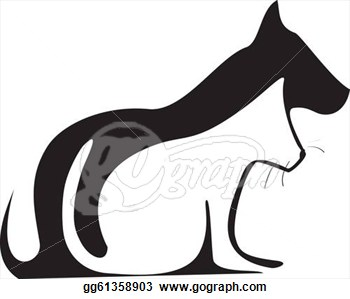 dog-and-cat-clip-art-black-and-white-cat-and-dog-silhouettes-logo ...