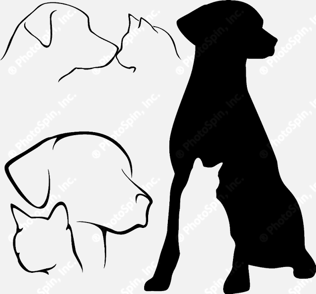 clip art free dogs and cats - photo #14