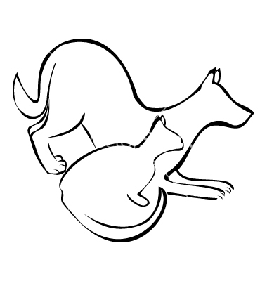 Dog And Cat Silhouette Clip Art Free Clipart Panda Free Clipart