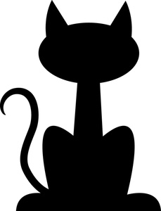 cat clip art cat sketches cat drawings graphics. smiling cat ...