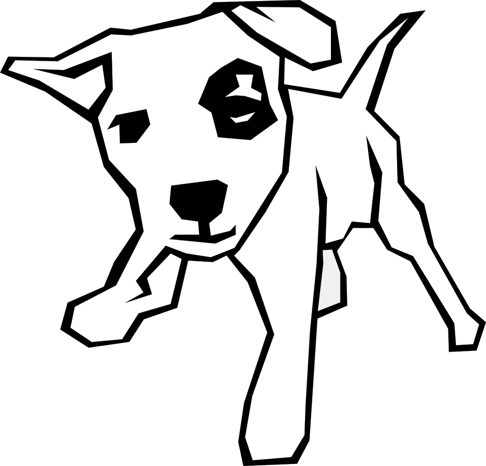 Cute Simple Line Art : Dog bone border clipart panda free images