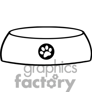 how to draw a dog bowl