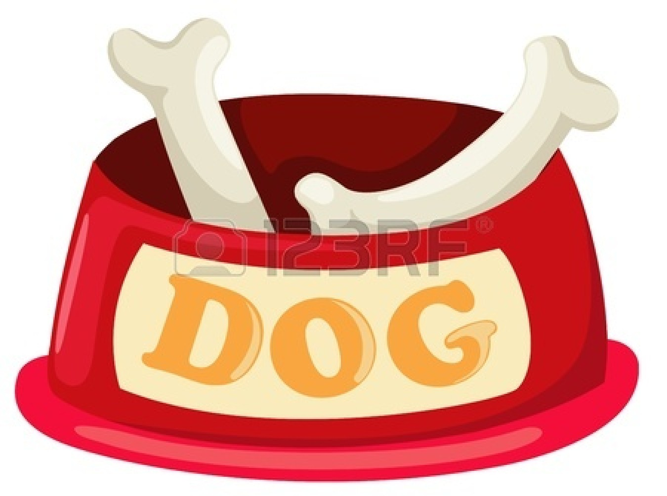 dog-bone-in-bowl-clipart-17623527-illustration-of-isolated-dog-bowl ...