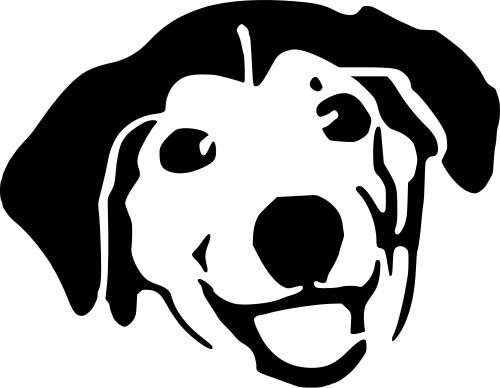 Dog Face Clip Art Black And White | Clipart Panda Free Clipart ...