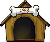 dog%20house%20clip%20art%20black%20and%20white