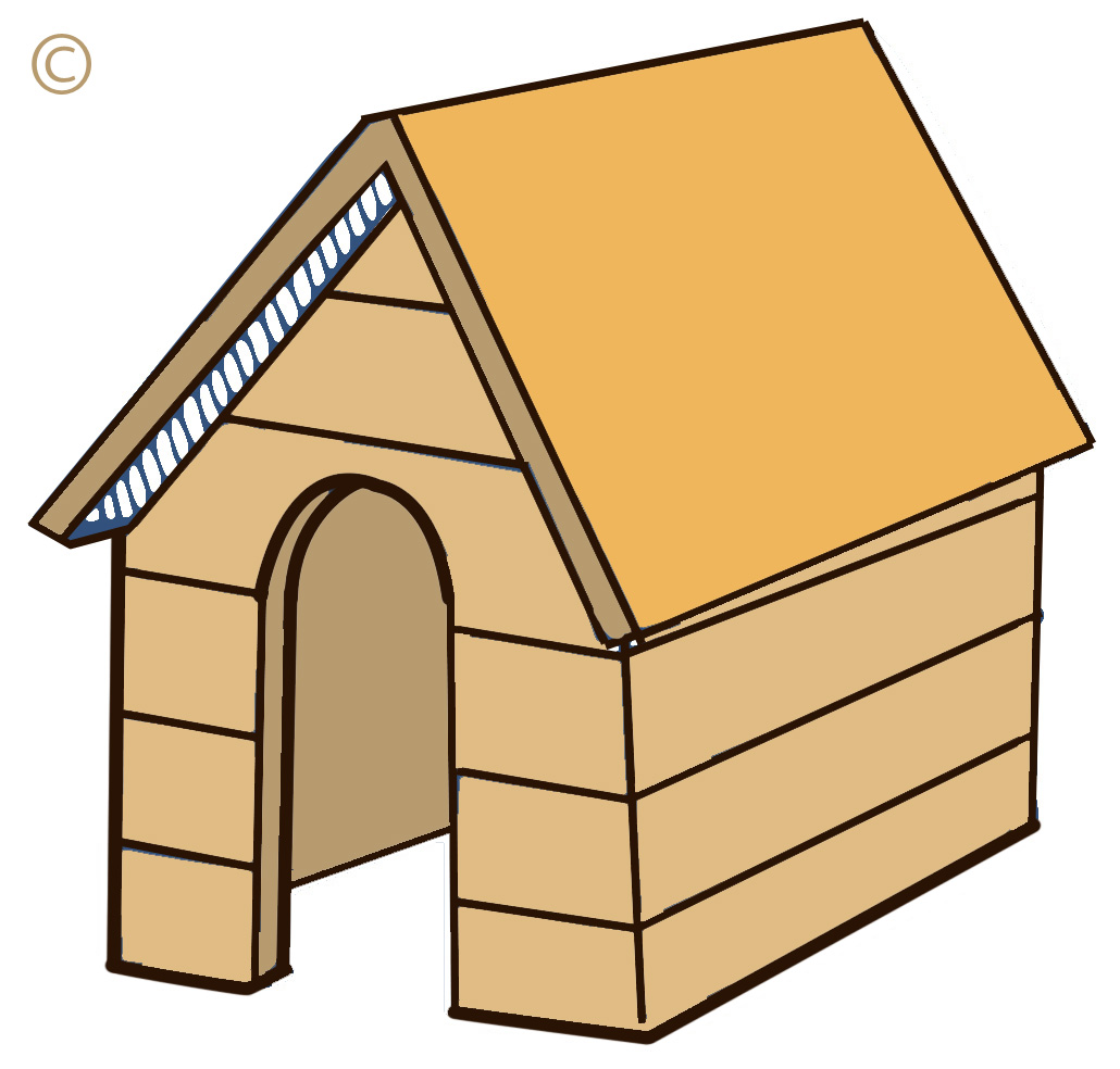 Cartoon Dog House Clip Art