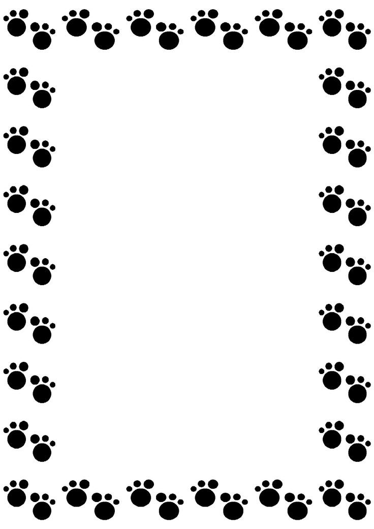 Dog Paw Border ...