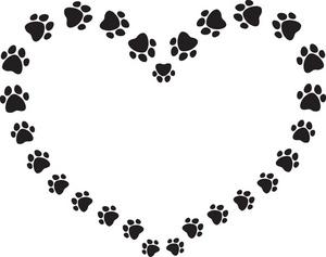 puppy paw print clip art clipart panda free clipart images rh clipartpanda com pet border clipart Black Swirl Clip Art