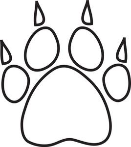 Dog Paw Border Clipart