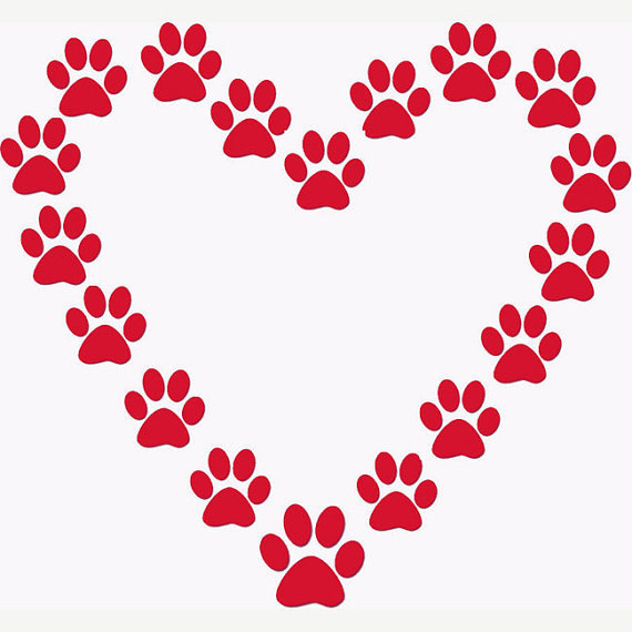 Dog Paw Heart Clip Art | Clipart Panda - Free Clipart Images