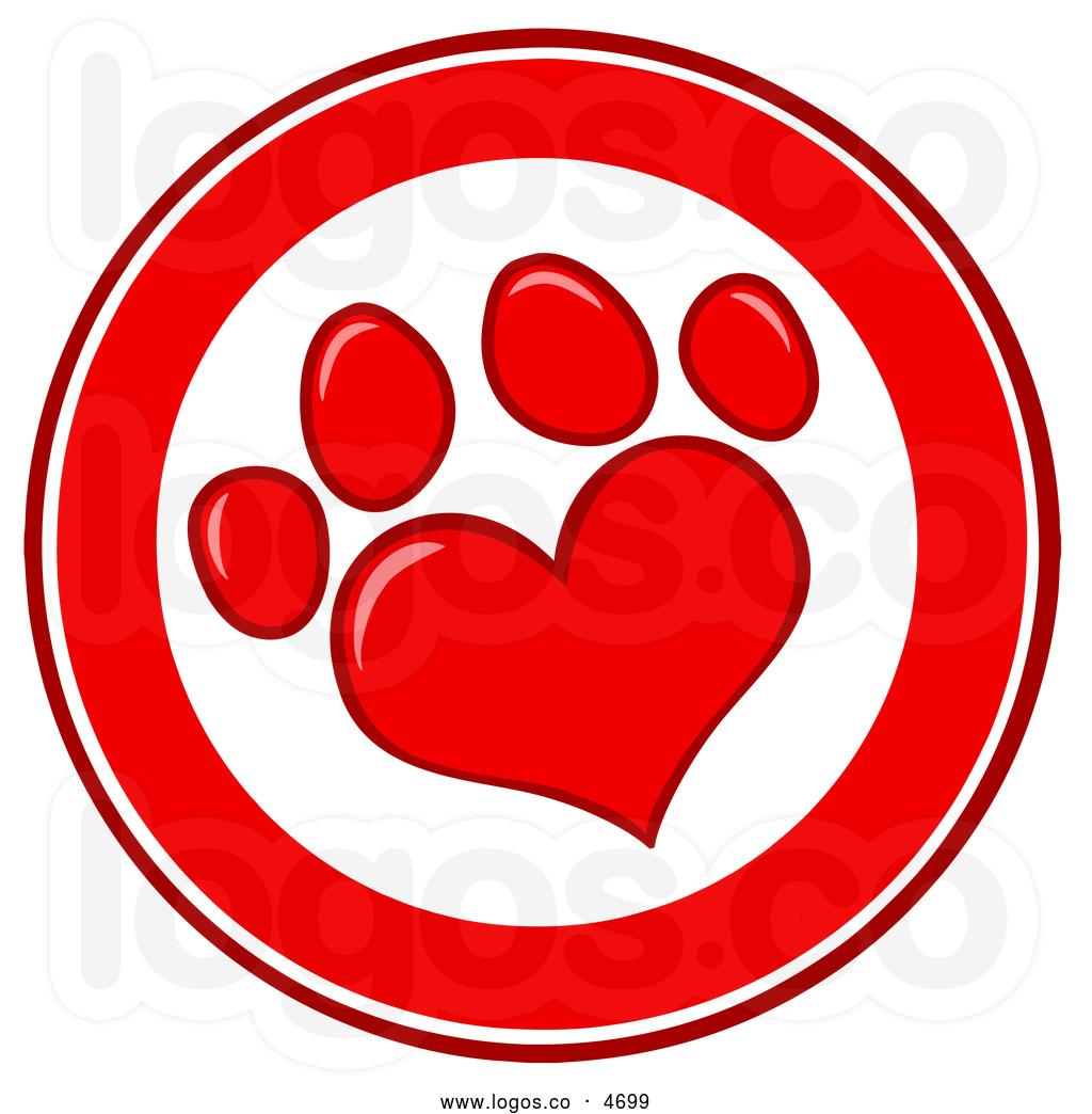 Red dog paw logo - photo#19