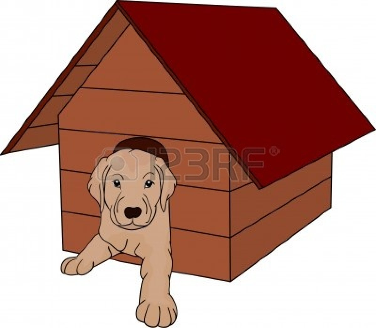 clipart of dog houses - photo #22