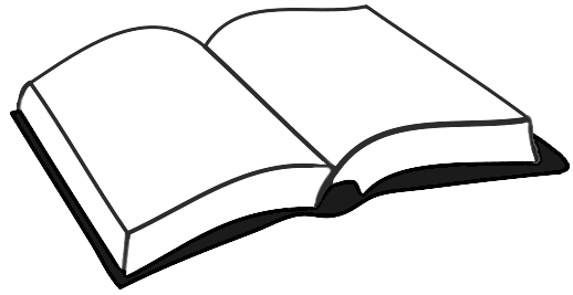 School books clip art black and white