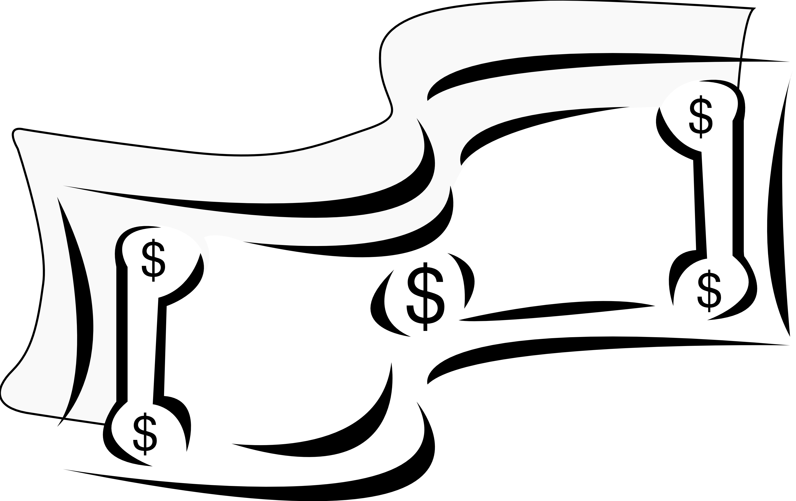 Dollar sign stylized. Graphic black and clipart