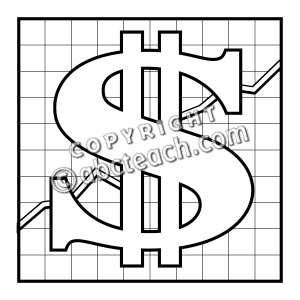 Dollar Sign Sheet Coloring Pages
