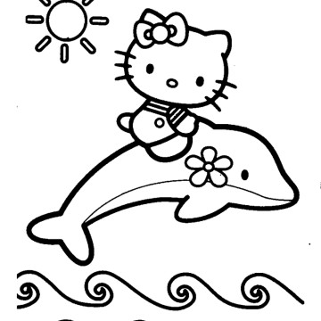 Dolphin And Mermaid Coloring Pages | Clipart Panda - Free ...