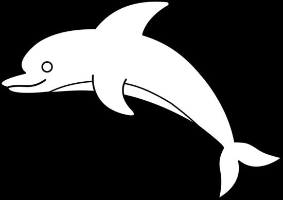 Dolphin Clip Art Outline