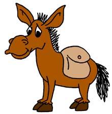 Donkey Clip Art - Royalty Free - GoGraph