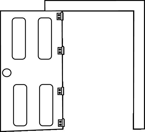 Door clip art black and white