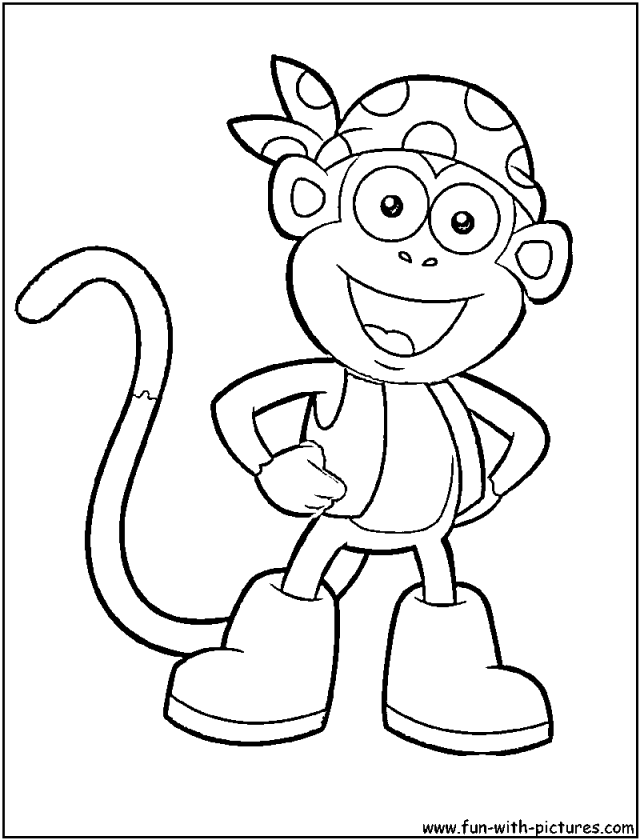 dora coloring pages backpack - photo#23