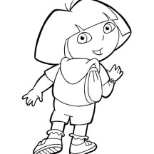 Dora Backpack Coloring Page Clipart Panda Free Clipart Images
