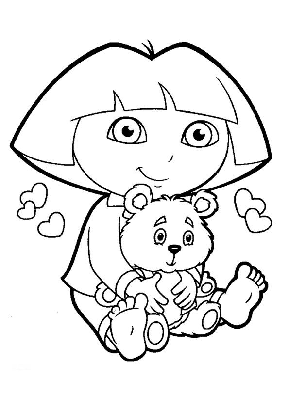 dora coloring pages backpack - photo#14