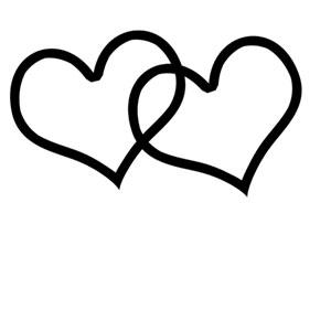 double hearts clip art clipart panda free clipart images rh clipartpanda com double heart clipart free silver double hearts clip art