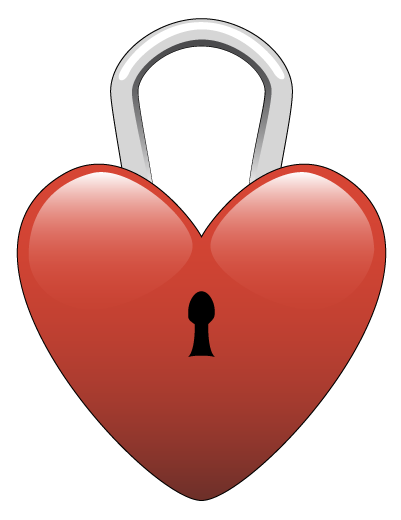Heart lock clipart - Locked door clipart ...