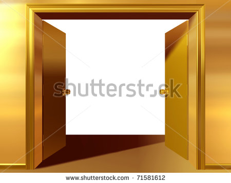 open double door in gold clipart panda free clipart images