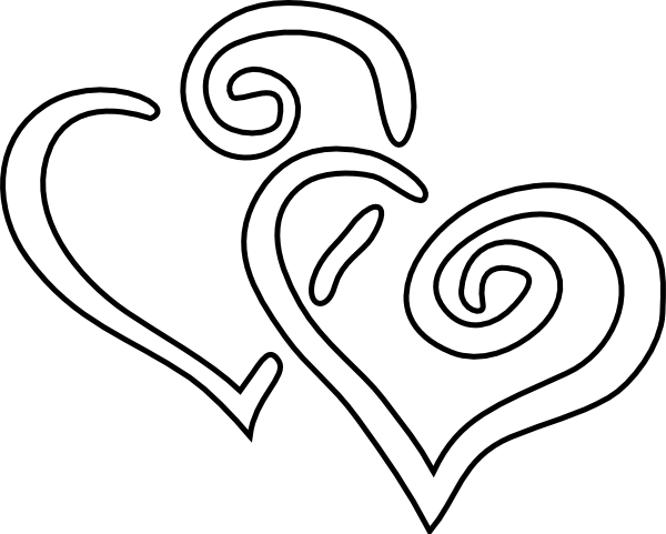 Double Heart Clipart Black And White | Clipart Panda - Free Clipart ...