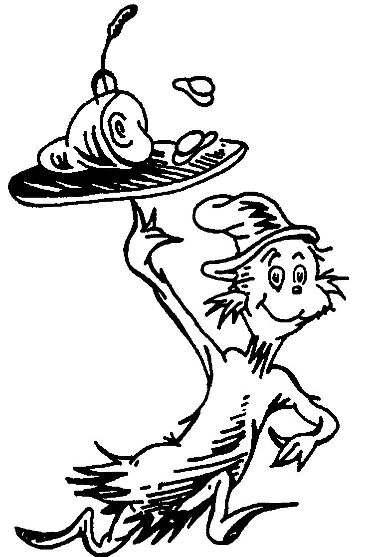 Dr seuss black and white clipart panda free clipart images for Dr seuss printable coloring pages