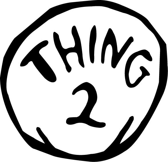 Dr Seuss Coloring Pages Thing 1 And Thing 2 Clipart