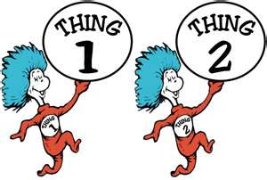 graphic relating to Thing 1 and Thing 2 Logo Printable identified as Dr Seuss Coloring Webpages Matter 1 And Detail 2 Clipart Panda