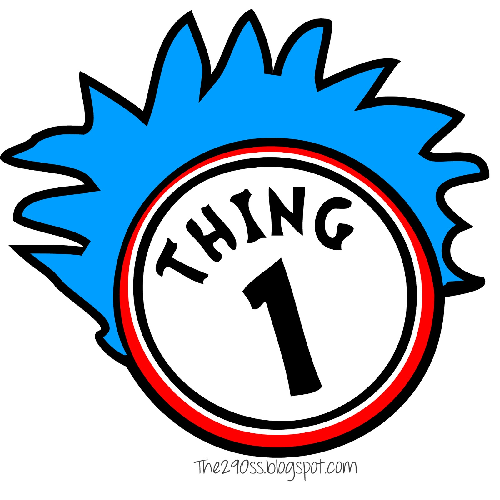 photograph relating to Thing 2 Logo Printable named Dr Seuss Coloring Web pages Factor 1 And Factor 2 Clipart Panda