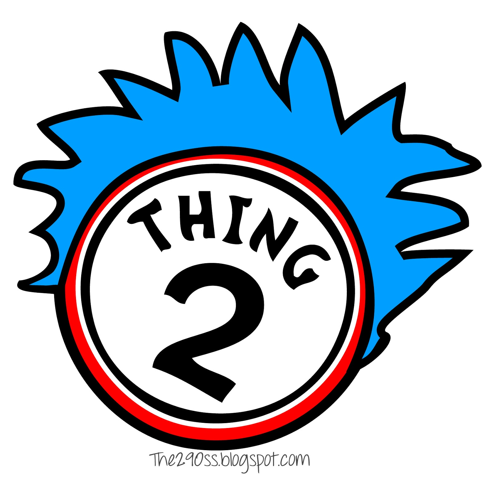Dr Seuss Coloring Pages Thing 1 And Thing 2 | Clipart Panda - Free ...