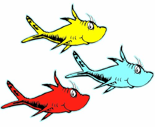 One fish two fish red fish blue fish clip art clipart for Red fish blue fish dr seuss