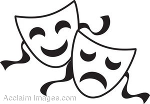 theater masks clipart clipart panda free clipart images rh clipartpanda com greek theatre masks clip art theater masks clipart