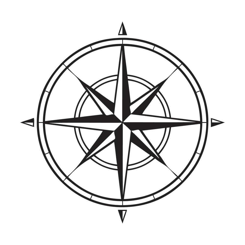 Compass Tattoo Line Drawing : Drawing compass clipart panda free images