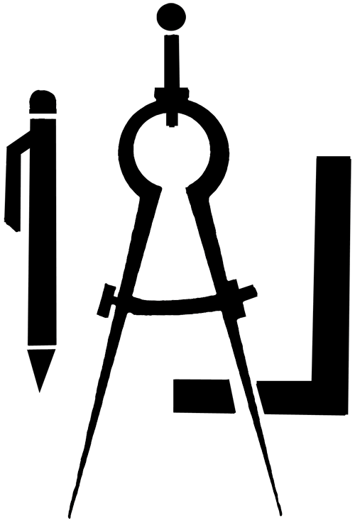Drafting tools clipart panda free clipart images for Logo drawing tool