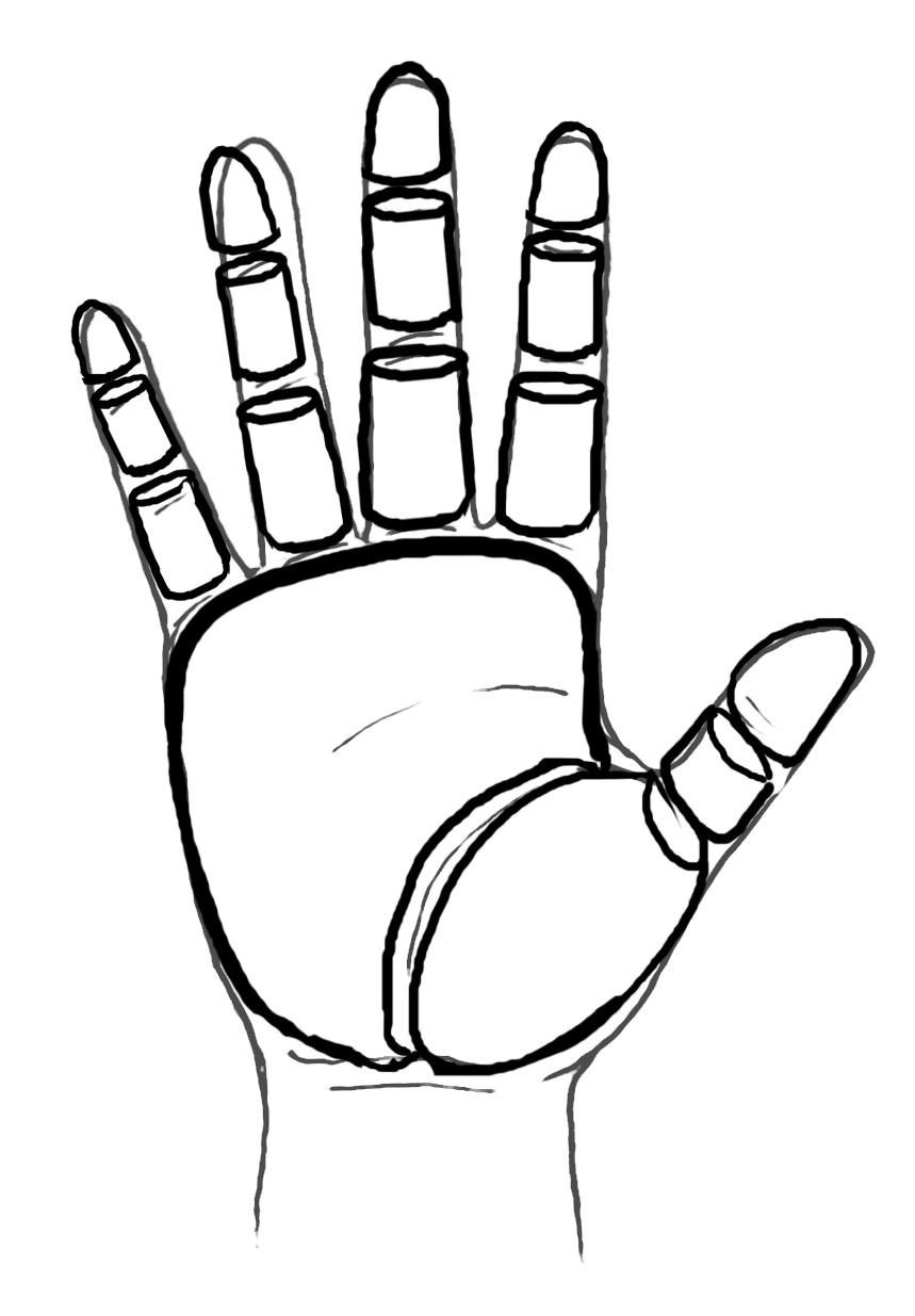 D Line Drawing Of Hand : Drawing hands clipart panda free images