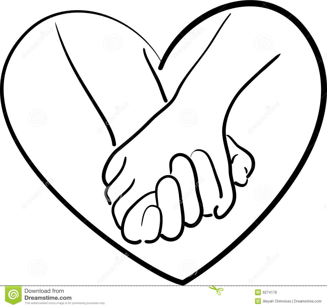 Holding Hands Heart Drawings | Clipart Panda - Free ...