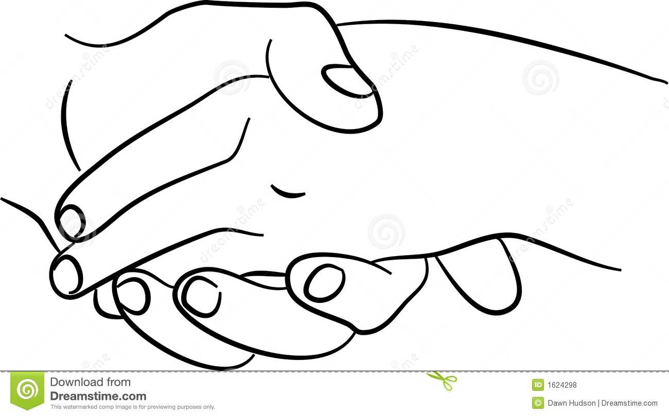 Line Drawing Holding Hands : Drawing hands clipart panda free images