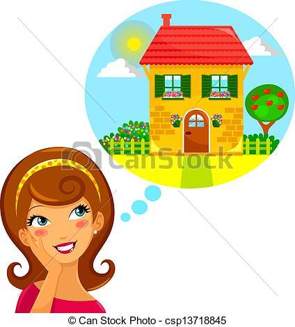 dream home young woman clipart panda free clipart images rh clipartpanda com dream clipart clipart dream house
