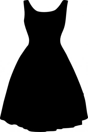Little Girl Dress Clipart Black And White | Clipart Panda ...