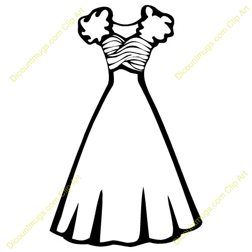 Wedding Gown Clip Art: Wedding Dress Clipart Outline